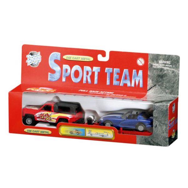 Набор из 2 инерционных автомобилей - Спортивная команда, 4 видаНаборы машинок<br>Набор из 2 инерционных автомобилей - Спортивная команда, 4 вида<br>