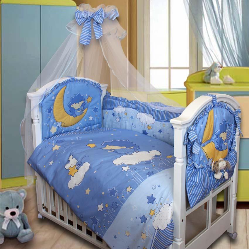 Комплект Ёжик Топа-Топ, голубойДетское постельное белье<br>Комплект Ёжик Топа-Топ, голубой<br>