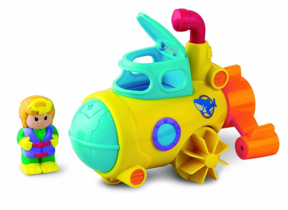 Заводная игрушка для купания Водный транспорт - СубмаринаЗаводные игрушки<br>Заводная игрушка для купания Водный транспорт - Субмарина<br>
