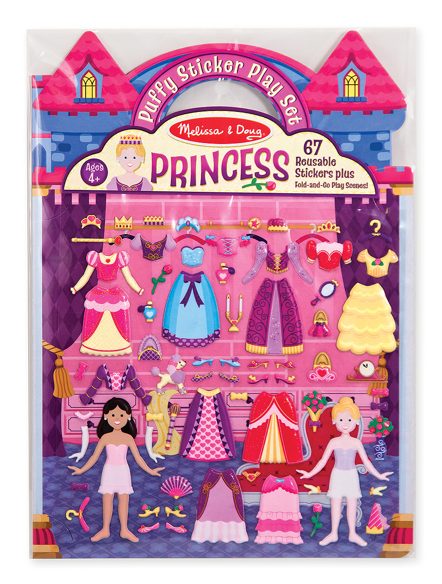 Набор со стикерами и фоном - Принцессы из серии ТворчествоНаклейки<br>Набор со стикерами и фоном - Принцессы из серии Творчество<br>
