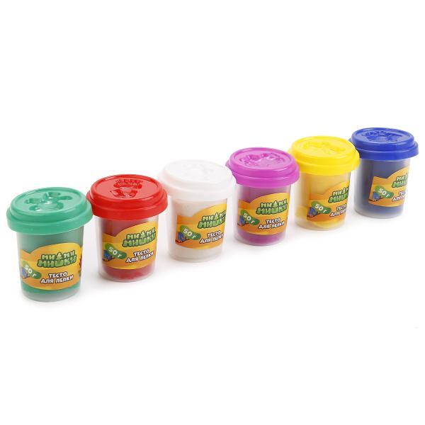 Тесто для лепки – Мимимишки, 6 цветовНаборы для лепки<br>Тесто для лепки – Мимимишки, 6 цветов<br>