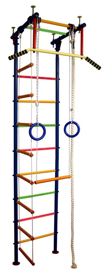 Купить Детский спортивный комплекс Юнга 1.1, цветные перекладины с ПВХ покрытием, Вертикаль