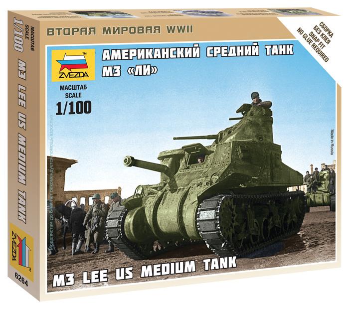 Модель сборная -  средний танк М3 - ЛиМодели танков для склеивания<br>Модель сборная -  средний танк М3 - Ли<br>