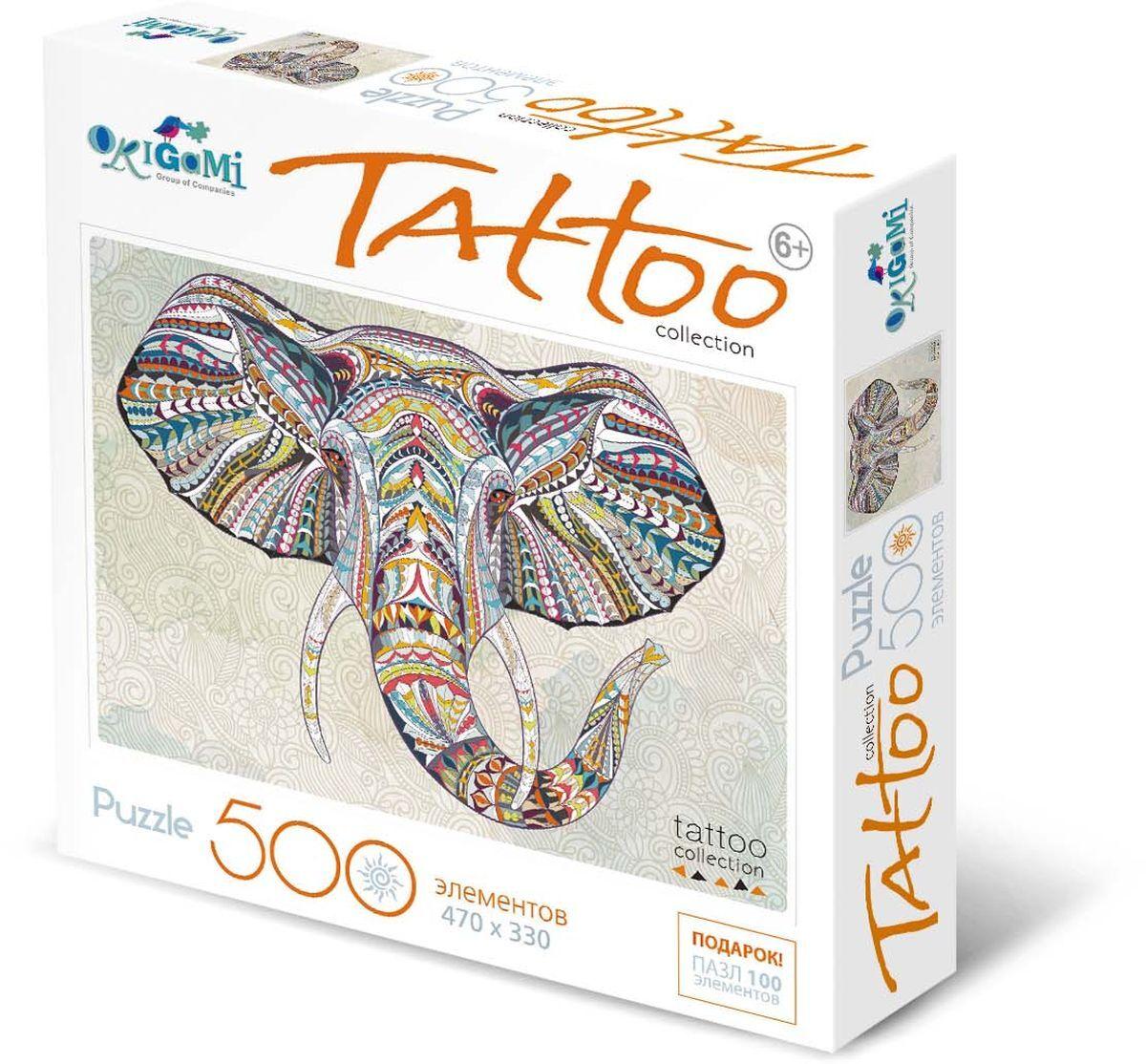 Купить Пазл 500 Арт-терапия - Слон, Origami