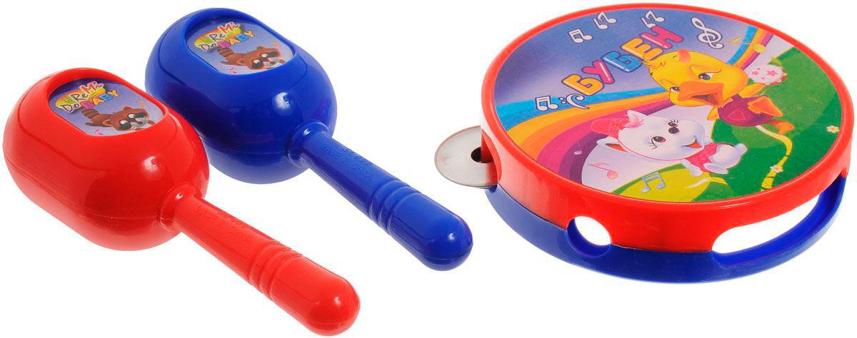 Набор музыкальных инструментов бубен и маракасы /WL-3327), ABtoys  - купить со скидкой