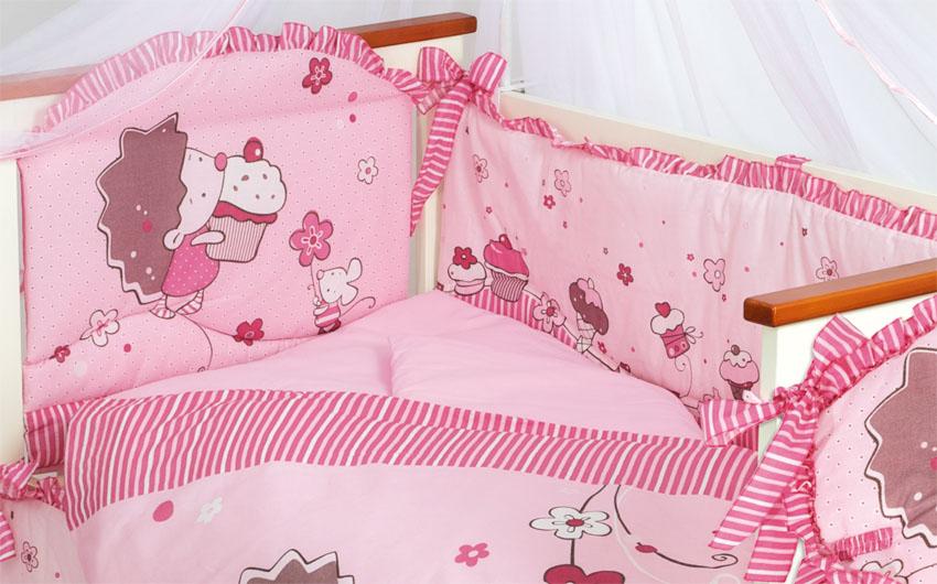 Бампер Ёжик - Топа-Топ, розовыйБампер в кроватку<br>Бампер Ёжик - Топа-Топ, розовый<br>