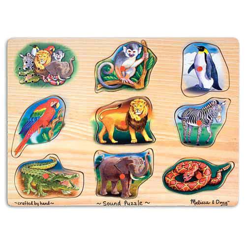 Пазл со звуком – ЖивотныеПазлы для малышей<br>Пазл со звуком – Животные<br>
