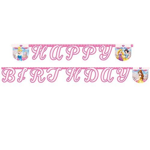 Гирлянда-буквы Happy Birthday – Принцессы Гламур, 220 смПринцессы Дисней<br>Гирлянда-буквы Happy Birthday – Принцессы Гламур, 220 см<br>
