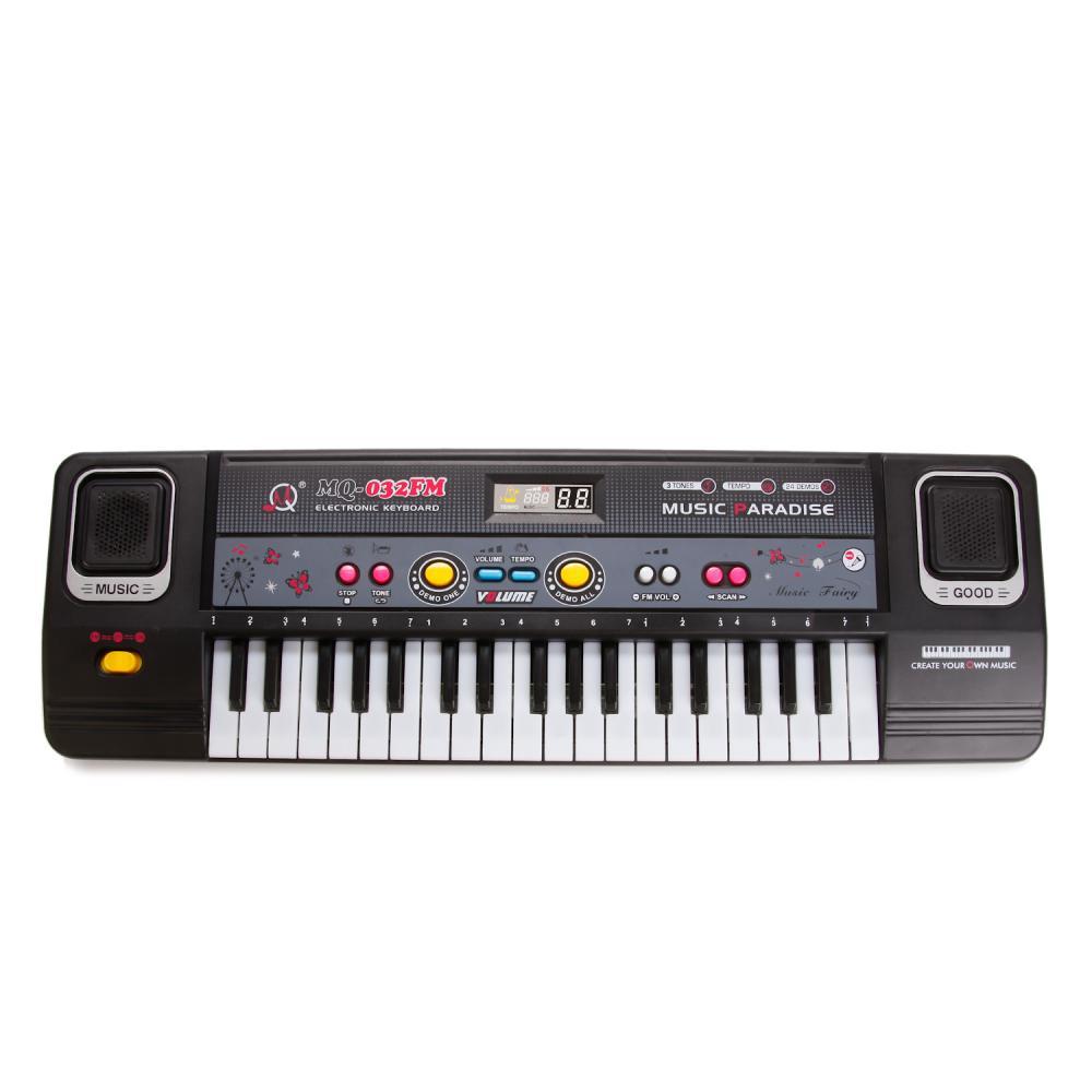 Купить Синтезатор с микрофоном и радио – Music, 220V/ батарейки, 37 клавиш, USB-кабель