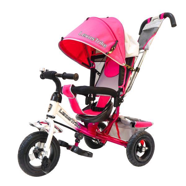 Купить Трехколесный велосипед - Lexus Trike, колеса 10 и 8 , бело-розовый
