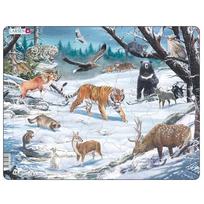 Пазл - Животные Сибири и Дальнего Востока, 66 деталей