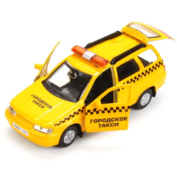 Инерционная металлическая модель Lada 111 - такси 12 см, Технопарк  - купить со скидкой