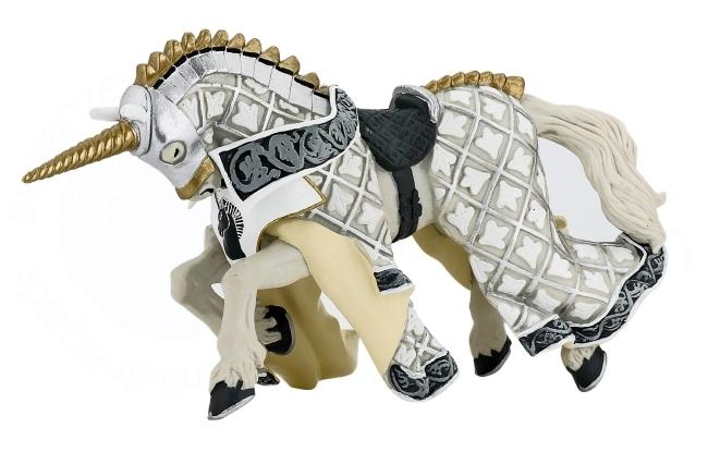 Конь рыцаря серебряного единорогаФигурки Papo<br>Конь рыцаря серебряного единорога<br>