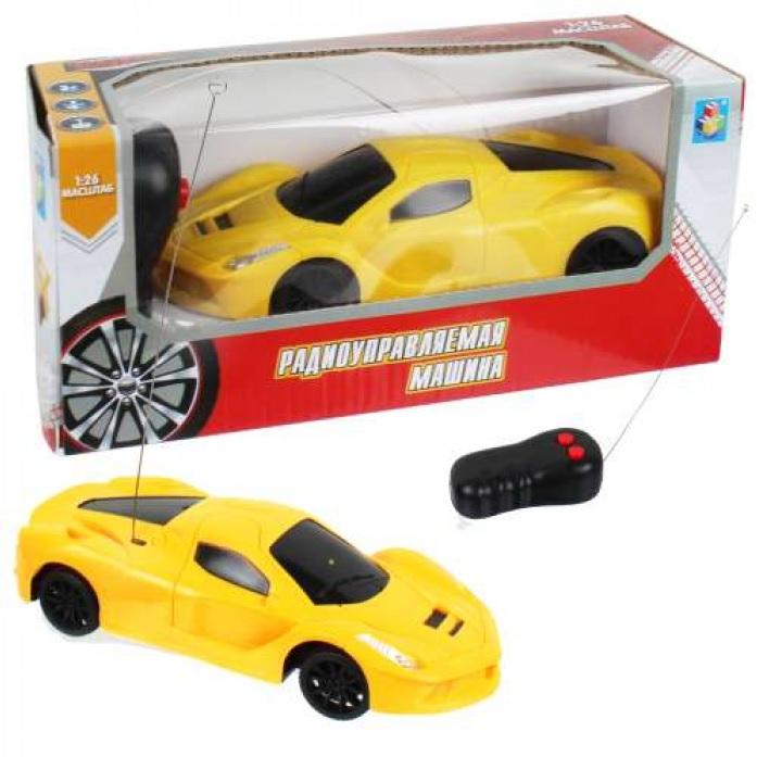 картинка Машина на радиоуправлении Спортавто, масштаб 1:26, 27 МГц, желтая от магазина Bebikam.ru