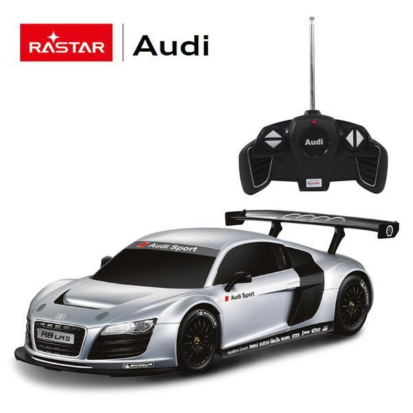 картинка Машина на радиоуправлении 1:18 Audi R8, цвет Серебряный от магазина Bebikam.ru
