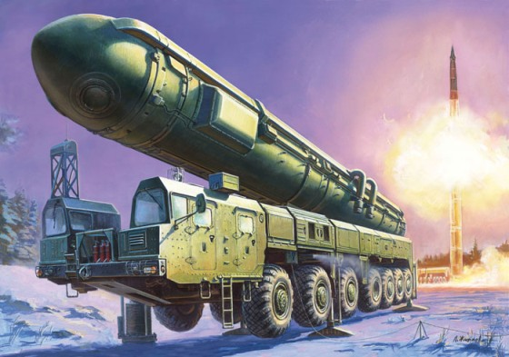 Сборная модель – Российский РКСН Тополь - Модели для склеивания, артикул: 98640