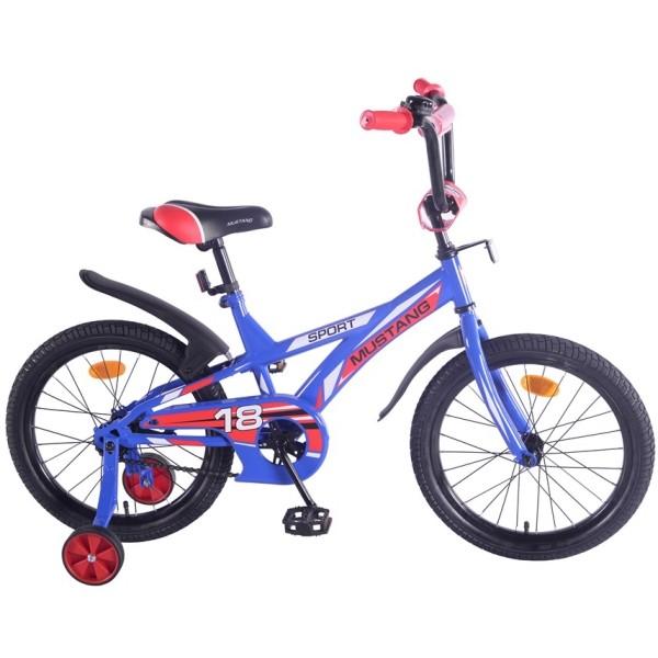 Купить Детский велосипед 18 , J-тип, сине-красный, Mustang