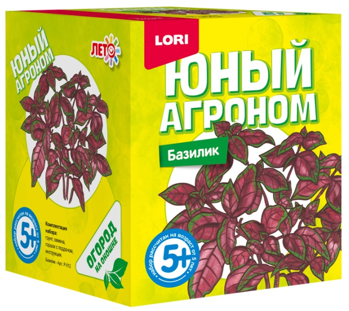Набор из серии Юный агроном – БазиликНаборы для выращивания растений<br>Набор из серии Юный агроном – Базилик<br>