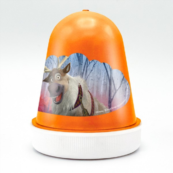 Купить Слайм Disney Kiki Fluffy - Морозный апельсин, оранжевый, Фабрика Творчества