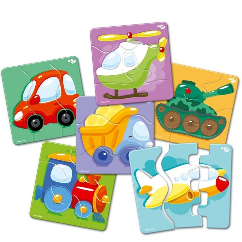 Купить Пазлы-макси ®BabyToys, зигзаг - Транспорт, 18 элементов, Десятое королевство
