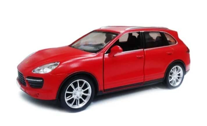 Купить Металлическая инерционная машина - Porsche Cayenne Turbo, 1:32, красный матовый, RMZ City