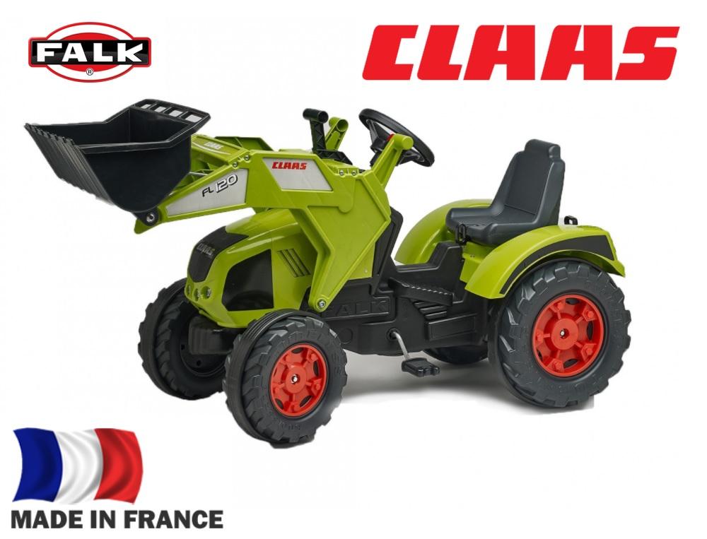 Педальный трактор-экскаватор, зеленый, 140 см
