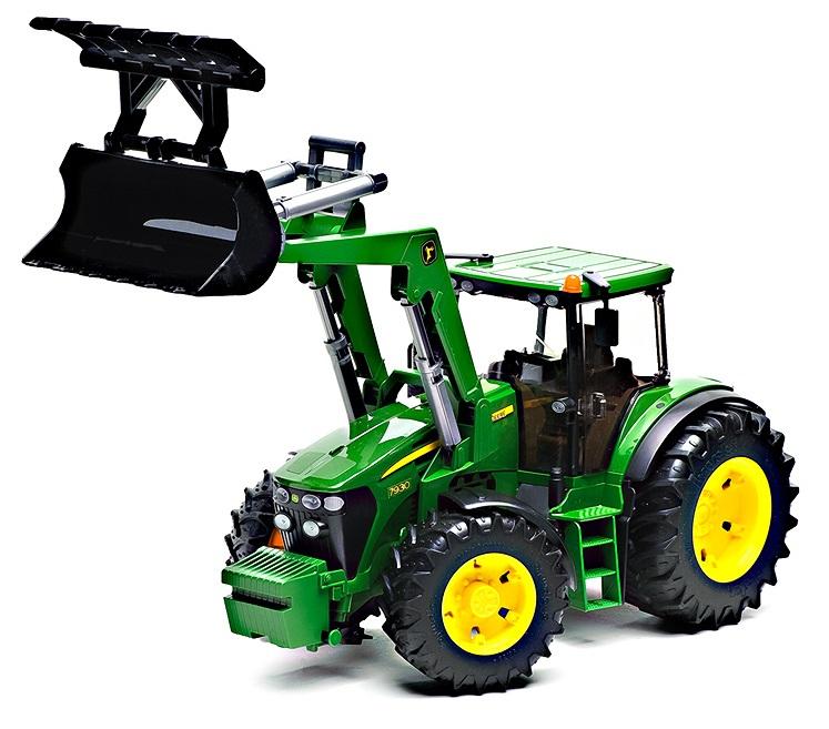 Трактор John Deere 7930 с ковшомИгрушечные тракторы<br>44 x 17.5 x 20.5 cm<br><br>Игрушка Bruder - Трактор, выполненный в масштабе 1:16.<br>Материал: высококачественная пластмасса, металл.<br>Размер: 44 x 17.5 x 20.5 см.ф<br>Про...<br>