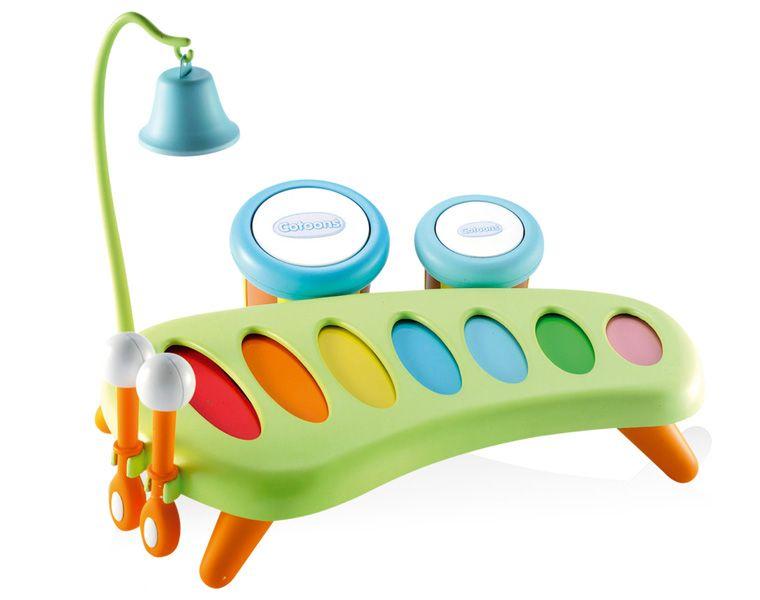 Музыкальный детский инструмент КсилофонРазвивающие игрушки Smoby Cotoons<br>Музыкальный инструмент ксилофон. <br>Для детей от 12-и мес. <br>Изготовлен из пластика. <br>Размер 25*31*26 см.<br>