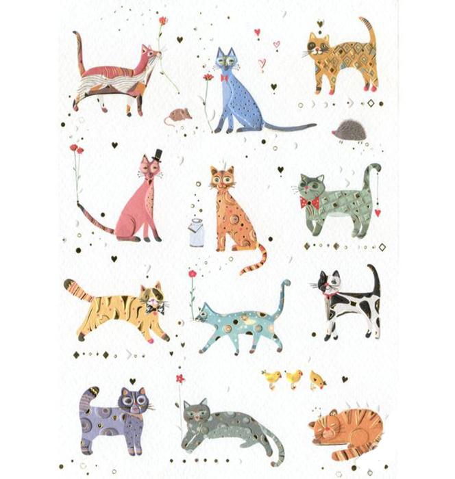 Купить Открытка – Кошки, Turnowsky