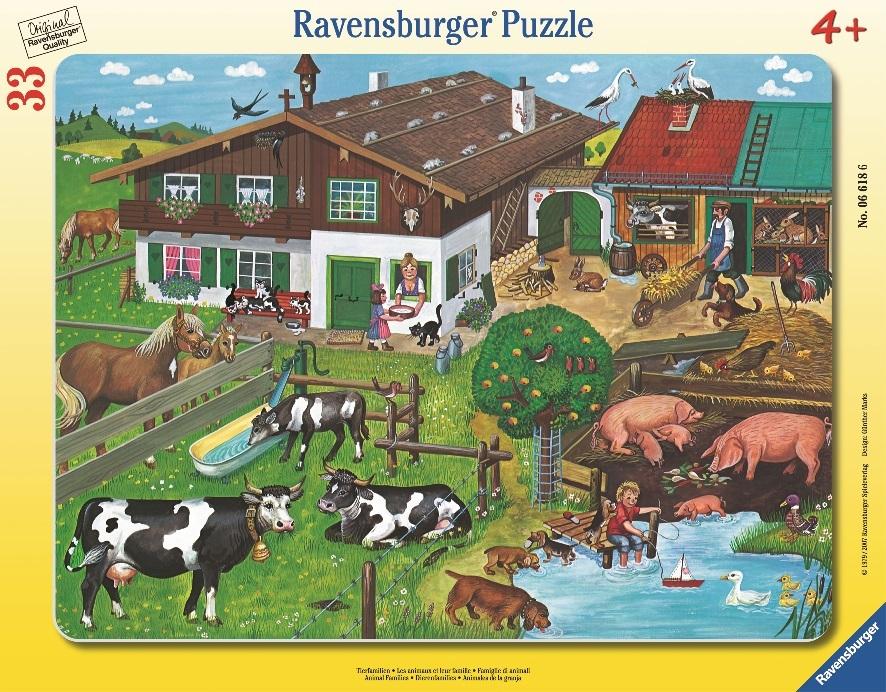 картинка Пазл - Животные на ферме, 33 детали от магазина Bebikam.ru