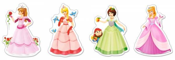 Пазл Castorland 4 в 1 , ПринцессыПазлы<br>Пазл Castorland 4 в 1 , Принцессы<br>