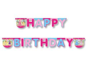 Гирлянда-буквы Happy Birthday – Принцессы Лето, 220 смПринцессы Дисней<br>Гирлянда-буквы Happy Birthday – Принцессы Лето, 220 см<br>