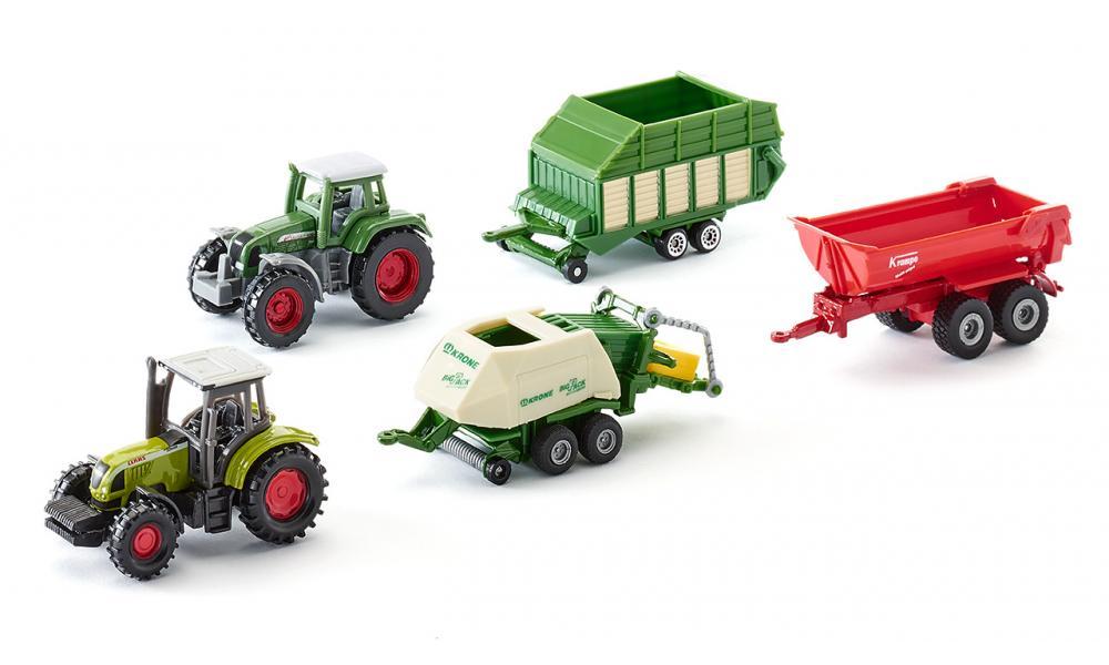 Игровой набор - Сельхоз техника, 5 машинИгрушечные тракторы<br>Игровой набор - Сельхоз техника, 5 машин<br>