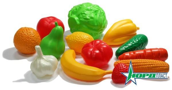 Набор Фрукты, Овощи  13 предметовДетская игрушка Касса. Магазин. Супермаркет<br>Набор Фрукты, Овощи  13 предметов<br>