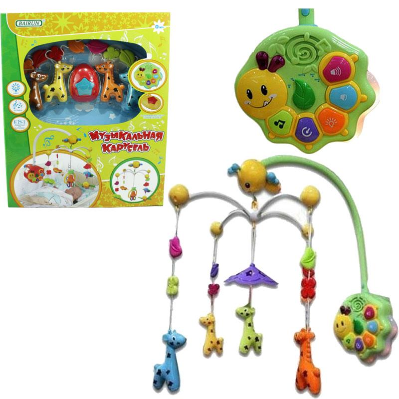 Музыкальная карусель – ЖирафикиМобили и музыкальные карусели на кроватку, игрушки для сна<br>Музыкальная карусель – Жирафики<br>