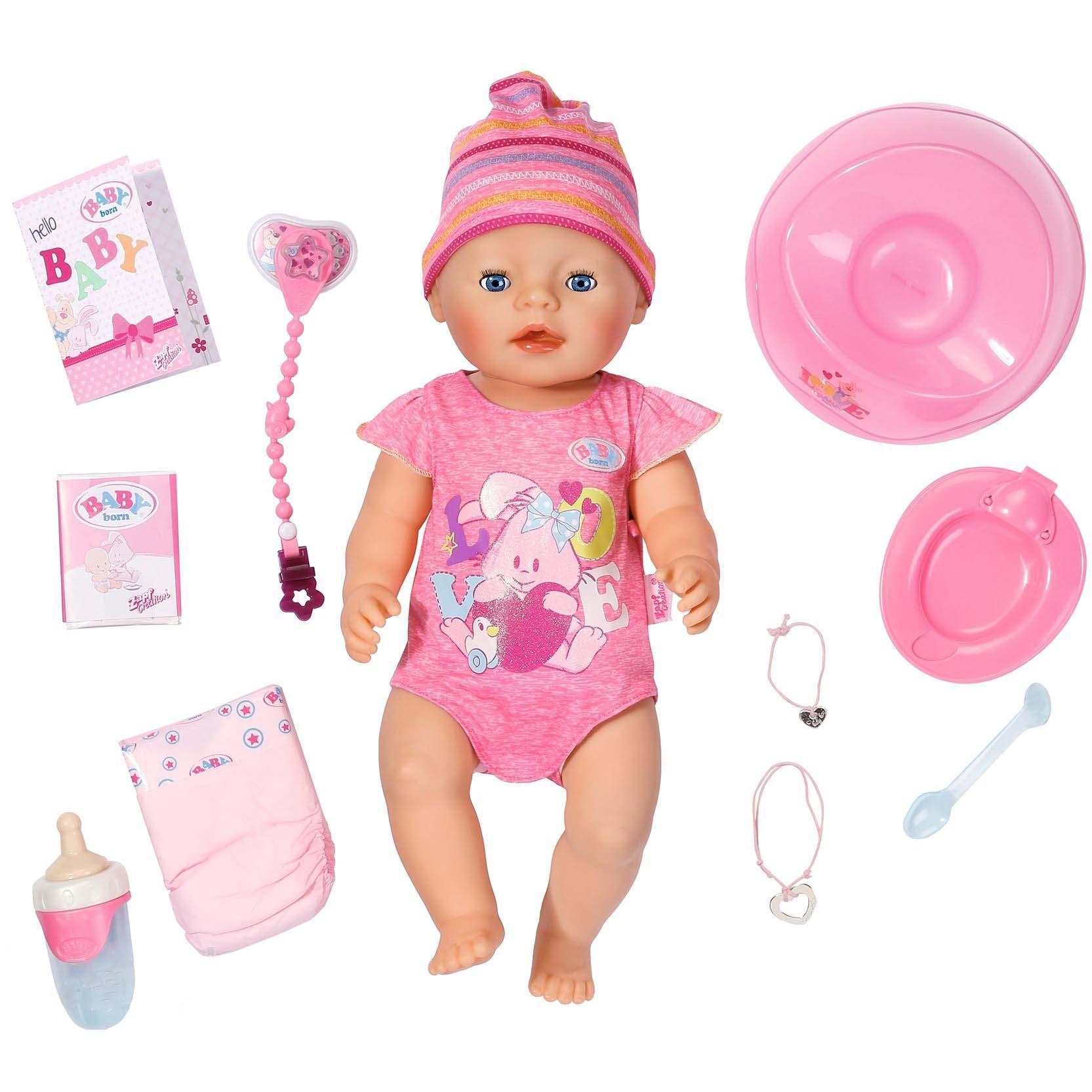 Интерактивная кукла - Baby born, 43 см от Toyway