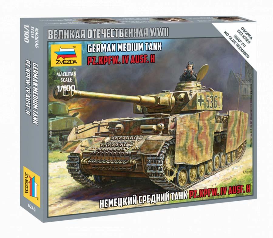 Купить Сборная модель - Немецкий танк Т-4 H, ZVEZDA
