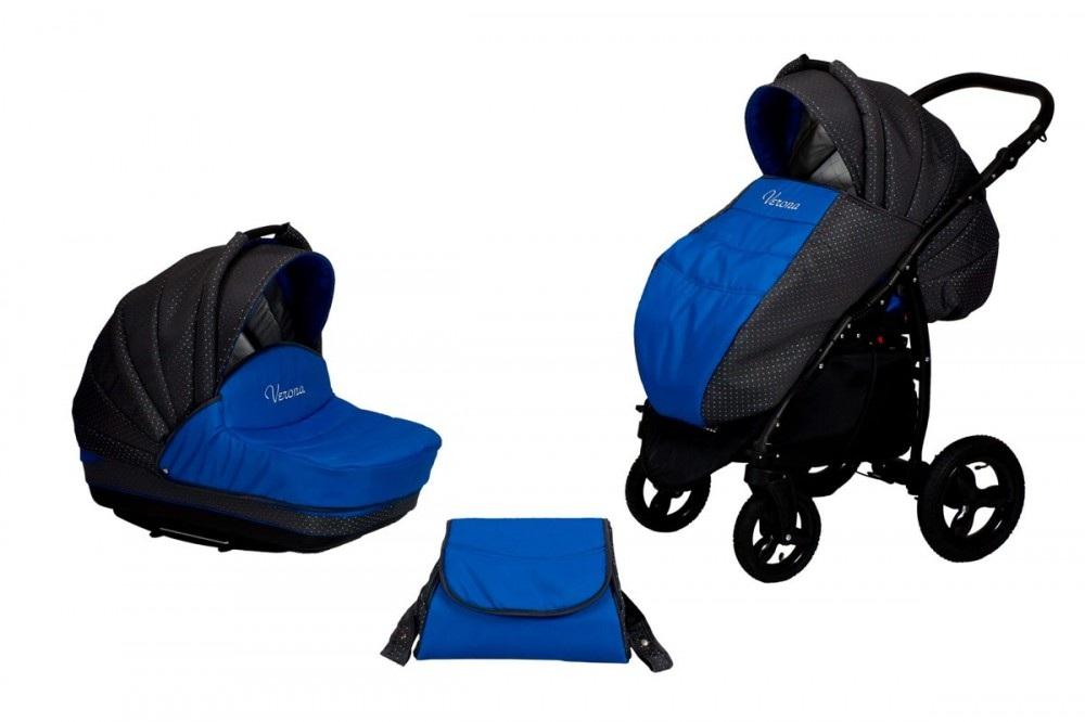 Коляска – Verona, синяяДетские коляски 2 в 1<br>Коляска – Verona, синяя<br>
