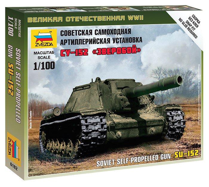 Модель сборная - Советская САУ СУ-152 ЗверобойМодели танков для склеивания<br>Модель сборная - Советская САУ СУ-152 Зверобой<br>