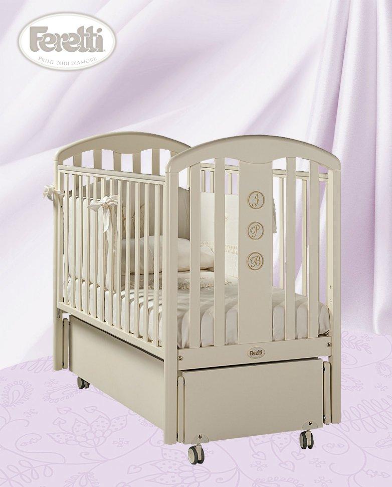 Кровать детская Elegance Swing AvorioДетские кровати и мягкая мебель<br>Кровать детская Elegance Swing Avorio<br>