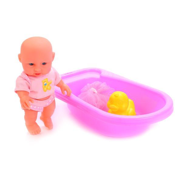 Пупс Карапуз  с ванночкой - Искупай меня, 16 см