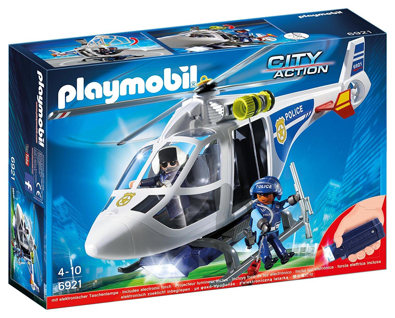 Купить Игровой набор из серии Полиция: Полицейский вертолет с Led прожектором, Playmobil