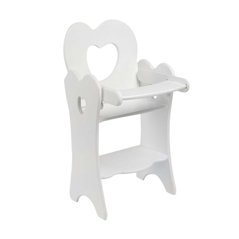 Кукольный стульчик для кормления, цвет: белый фото