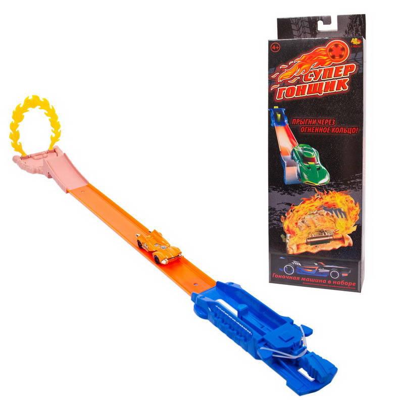 Купить Игровой набор с машинкой - Супер Гонщик: Прыгни через огненное кольцо, ABtoys