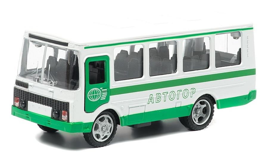Купить Автобус ПАЗ 3205 АВТОГОР, свет, звук 1:43, Технопарк