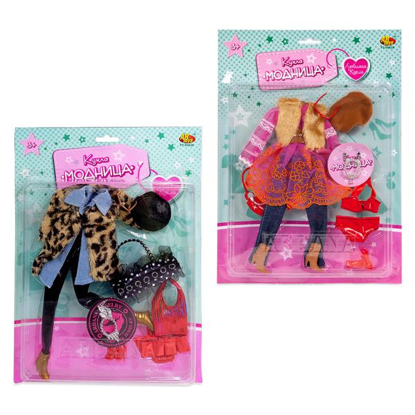 Набор одежды для куклы Модница с аксессуарами, 2 видаОдежда для кукол<br>Набор одежды для куклы Модница с аксессуарами, 2 вида<br>