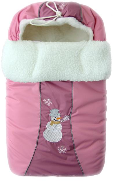 Конверт меховой из серии Снежинка, розовыйЗимние конверты<br>Конверт меховой из серии Снежинка, розовый<br>
