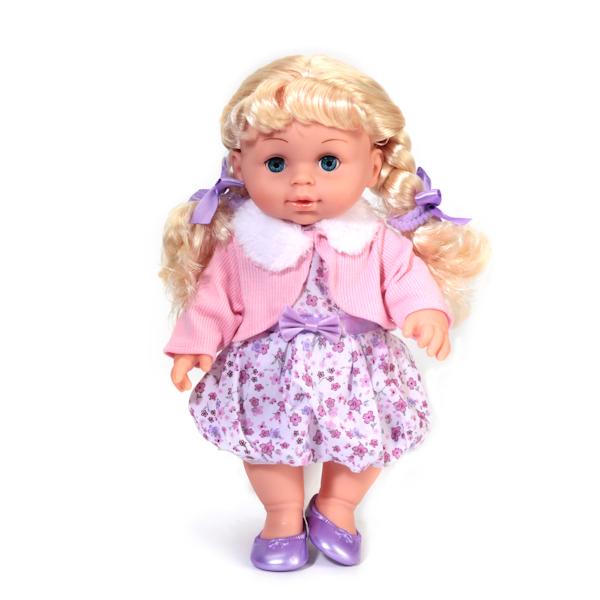 Кукла Полина с закрывающимися глазками, 30 см, озвученнаяКуклы Карапуз<br>Кукла Полина с закрывающимися глазками, 30 см, озвученная<br>