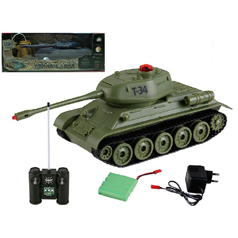 Купить Танк Т-34 на радиоуправлении, свет и звук, Yako