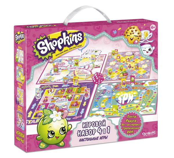 Настольная игра 4 в 1 – ShopkinsShopkins (Шопкинс)<br>Настольная игра 4 в 1 – Shopkins<br>